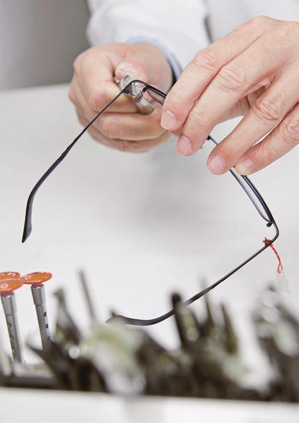 Úprava brýlí